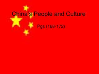 China's People and Culture