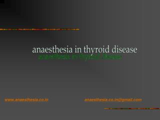 anaesthesia in thyroid disease