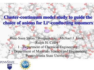 Cluster-continuum model study to guide the choice of anions for Li + -conducting ionomers