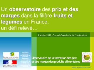 9 février 2012, Conseil Québécois de l'Horticulture