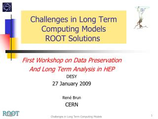 Challenges in Long Term Computing Models ROOT Solutions