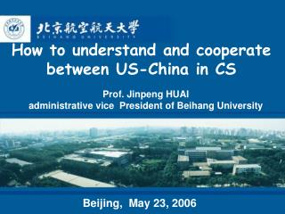 How to understand and cooperate  between US-China in CS