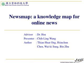 Newsmap: a knowledge map for online news