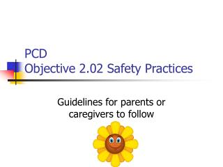 PCD Objective 2.02 Safety Practices