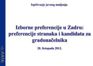 Izborne preferencije u Zadru: preferencije stranaka i kandidata za gradonačelnika