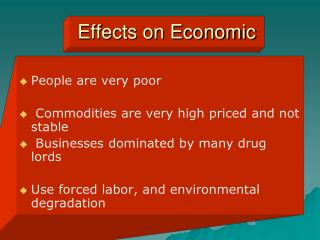 Effects on Economic
