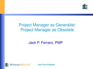 Project Manager as Generalist: Project Manager as Obsolete