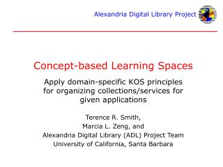 Concept-based Learning Spaces
