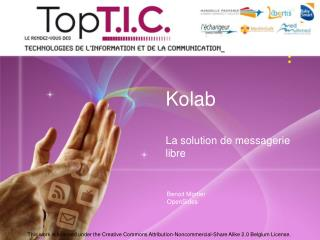 Kolab La solution de messagerie libre