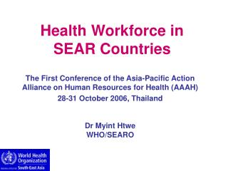 Health Workforce in SEAR Countries