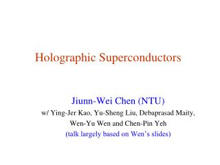 Holographic Superconductors