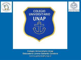 Colegio Universitario Unap Educadora Lorena Gallardo Córdova lorena.gallardo@unap.cl