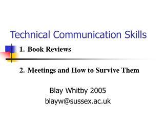 Technical Communication Skills