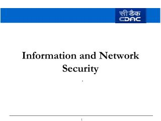 Information and Network Security