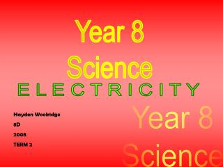 Year 8 Science