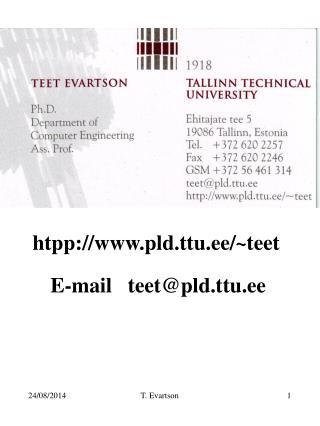 htpp://pld.ttu.ee/ ~ teet