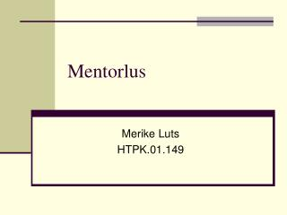 Mentorlus