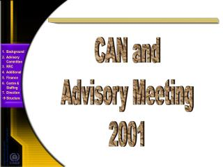 CAN and Advisory Meeting 2001