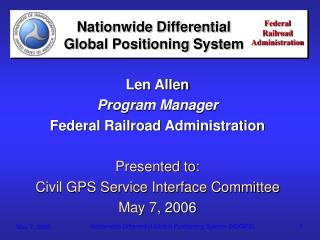 Nationwide Differential Global Positioning System