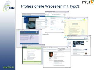 Professionelle Webseiten mit Typo3