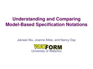 Understanding and Comparing Model-Based Specification Notations
