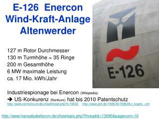 E-126  Enercon  Wind-Kraft-Anlage Altenwerder