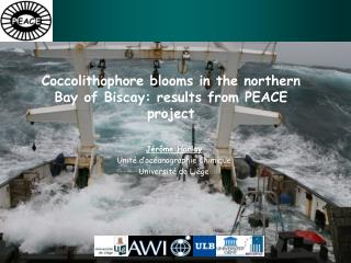 Coccolithophore blooms in the northern Bay of Biscay: results from PEACE project