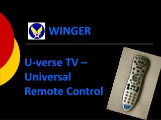 U-verse TV –  Universal Remote Control