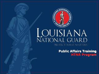 Public Affairs Training HTNR Program