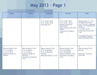 May 2013 � Page 1