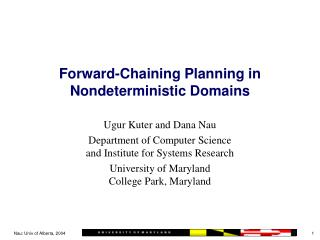 Forward-Chaining Planning in Nondeterministic Domains