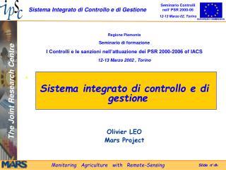 Regione Piemonte Seminario di formazione