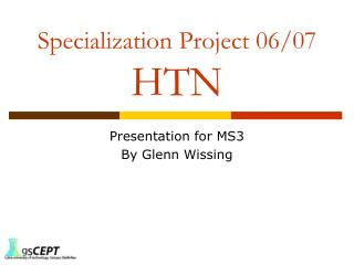 Specialization Project 06/07 HTN