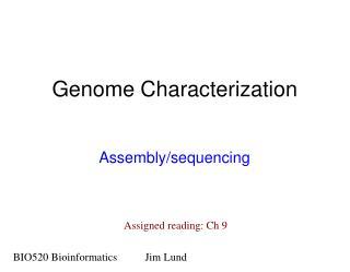 Genome Characterization