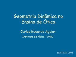 Geometria Dinâmica no Ensino de Ótica