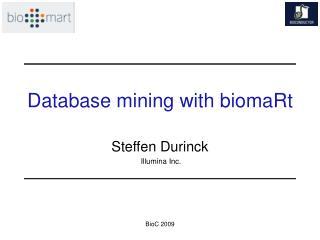 Database mining with biomaRt