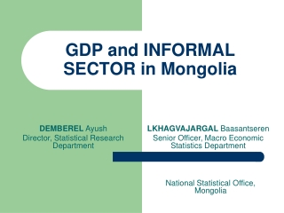 The Macro Economy    Gross Domestic Product GDP