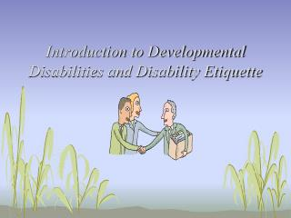 Introduction to Developmental Disabilities and Disability Etiquette