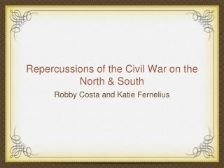 Repercussions of the Civil War on the North & South