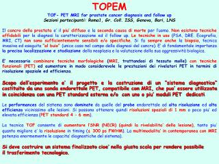 TOPEM TOF- PET MRI for prostate cancer diagnosis and follow up