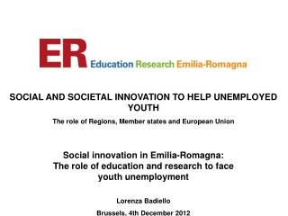 SOCIAL AND SOCIETAL INNOVATION TO HELP UNEMPLOYED YOUTH