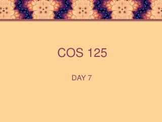 COS 125