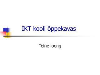 IKT kooli õppekavas
