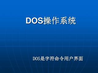 DOS 操作系统