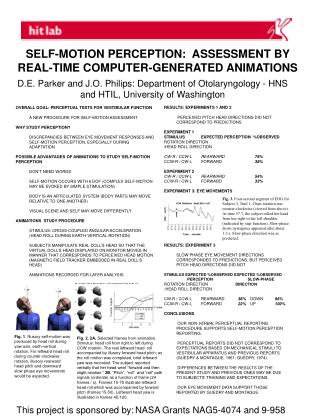 SELF-MOTION PERCEPTION:  ASSESSMENT BY      REAL-TIME COMPUTER-GENERATED ANIMATIONS