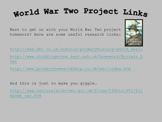 World War Two Project Links