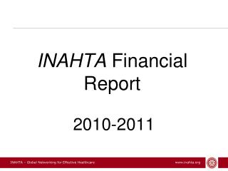INAHTA  Financial Report