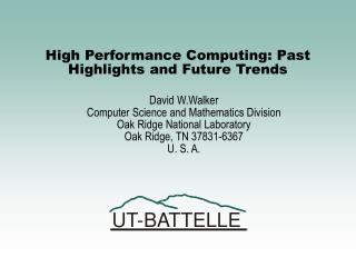 High Performance Computing: Past Highlights and Future Trends