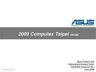2009  Computex  Taipei  recap