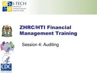 ZHRC/HTI Financial Management Training